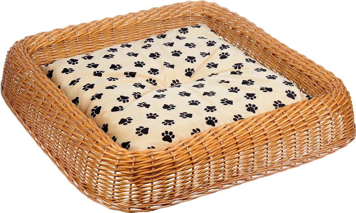 Лежанка для животных Каскад №5, плетеная, 92 х 91 х 16 см щетка для животных каскад на руку цвет красный 12 5 х 7 5 см