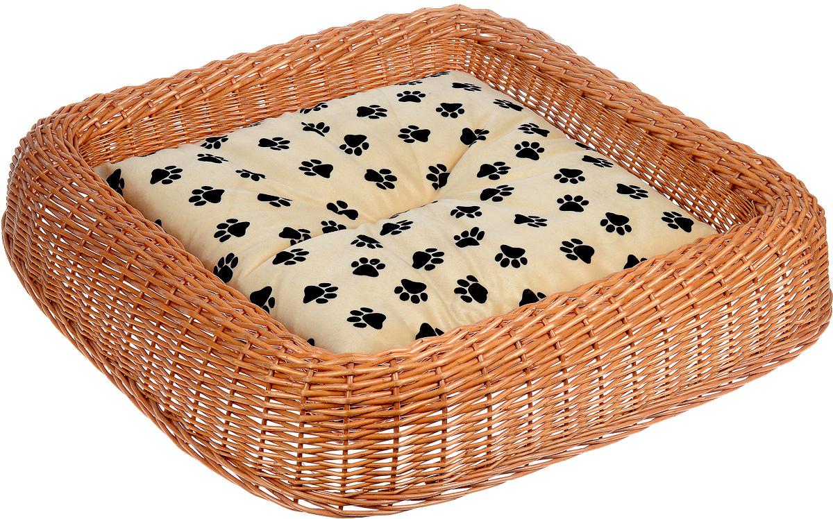 Лежанка для животных Каскад №4, плетеная, 81 х 80 х 14 см щетка для животных каскад на руку цвет красный 12 5 х 7 5 см