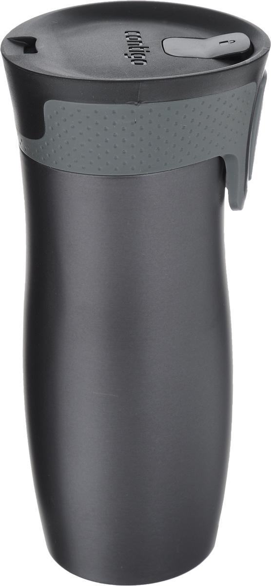 Термокружка Contigo West Loop, цвет: серый, черный, 470 мл термокружка contigo huron