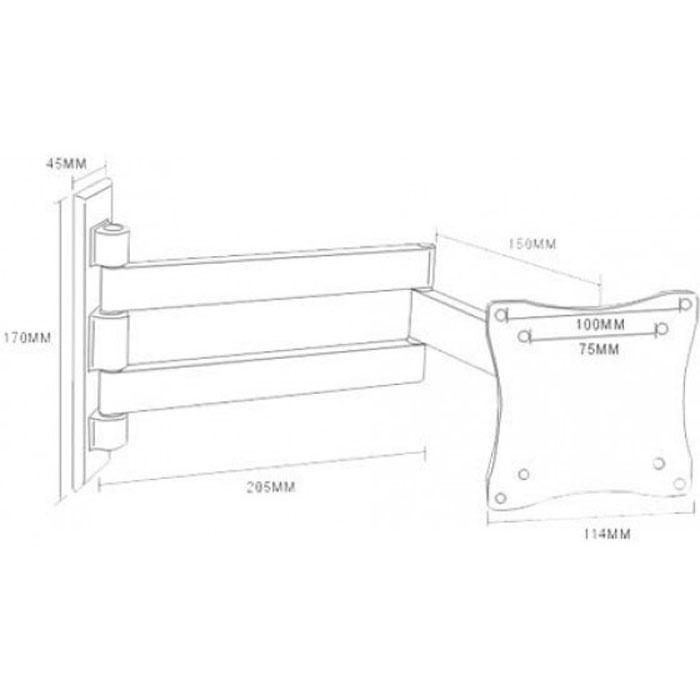 Кронштейн для ТВ Arm Media LCD-7101silver Arm Media