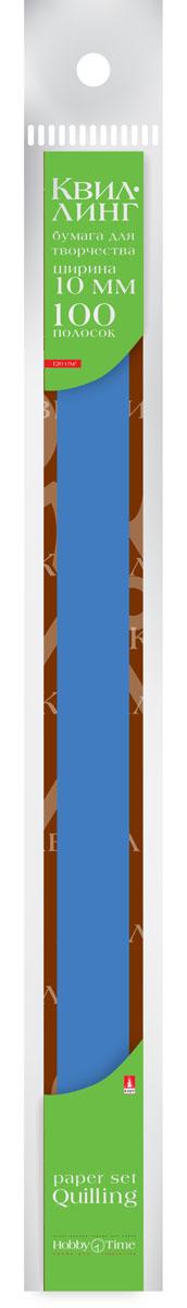 Альт Бумага для квиллинга 10 мм 100 полос цвет синий