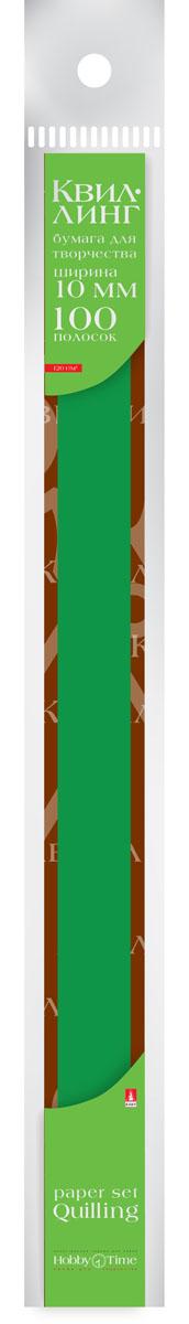 Альт Бумага для квиллинга 10 мм 100 полос цвет темно-зеленый набор бумаги цветной для квиллинга action fancy микс 6мм 53см 100 штук 18цветов