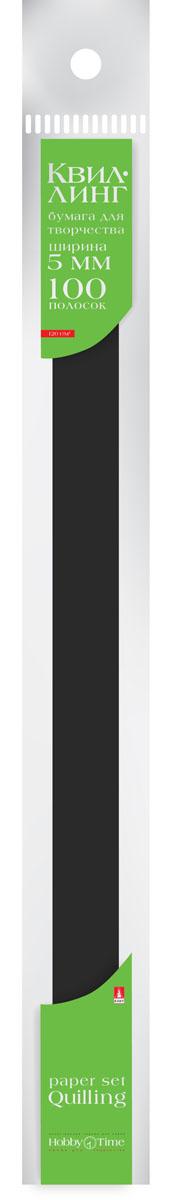 Альт Бумага для квиллинга 5 мм 100 полос цвет черный