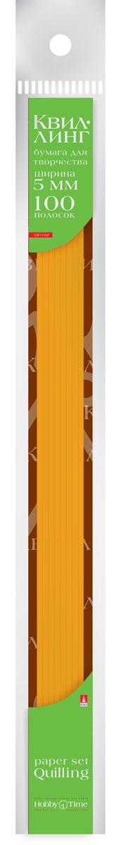 Альт Бумага для квиллинга 5 мм 100 полос цвет оранжевый