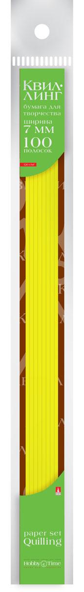 Альт Бумага для квиллинга 7 мм 100 полос цвет желтый