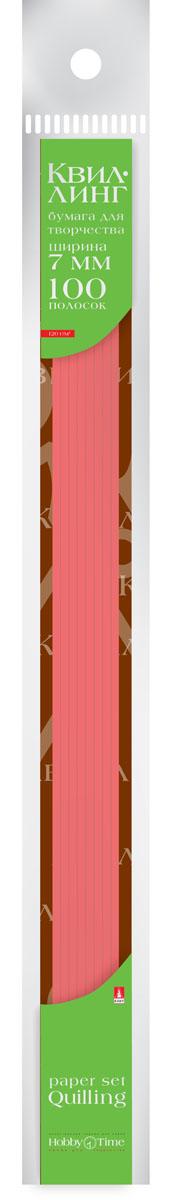 Альт Бумага для квиллинга 7 мм 100 полос цвет красный
