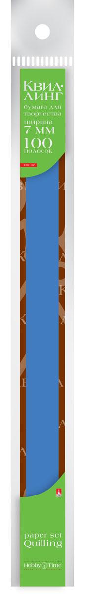 Альт Бумага для квиллинга 7 мм 100 полос цвет синий