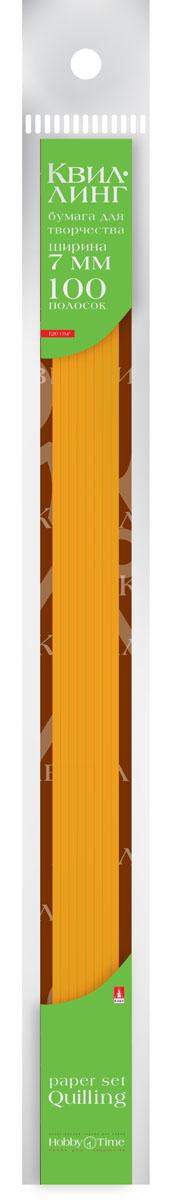 Альт Бумага для квиллинга 7 мм 100 полос цвет оранжевый