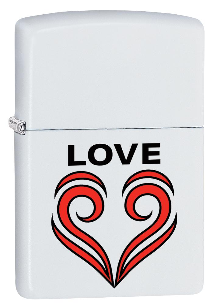 Зажигалка Zippo 214 Love Theme, 3,6 х 1,2 х 5,6 см зажигалка zippo 214 abstract 3 6 х 1 2 х 5 6 см