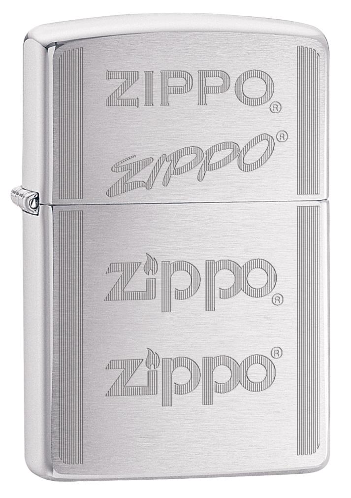 Зажигалка Zippo 200 Zippo Logo, 3,6 х 1,2 х 5,6 см. 29214 зажигалки zippo z 200 zp