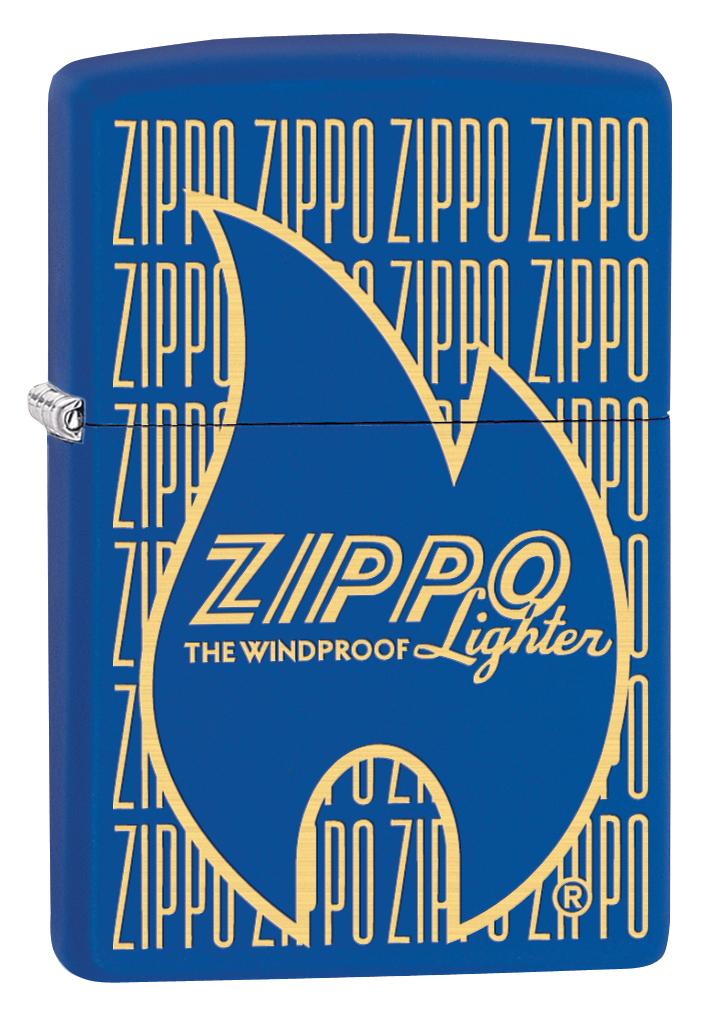 Зажигалка Zippo 229 Zippo Logo Variation, 3,6 х 1,2 х 5,6 см