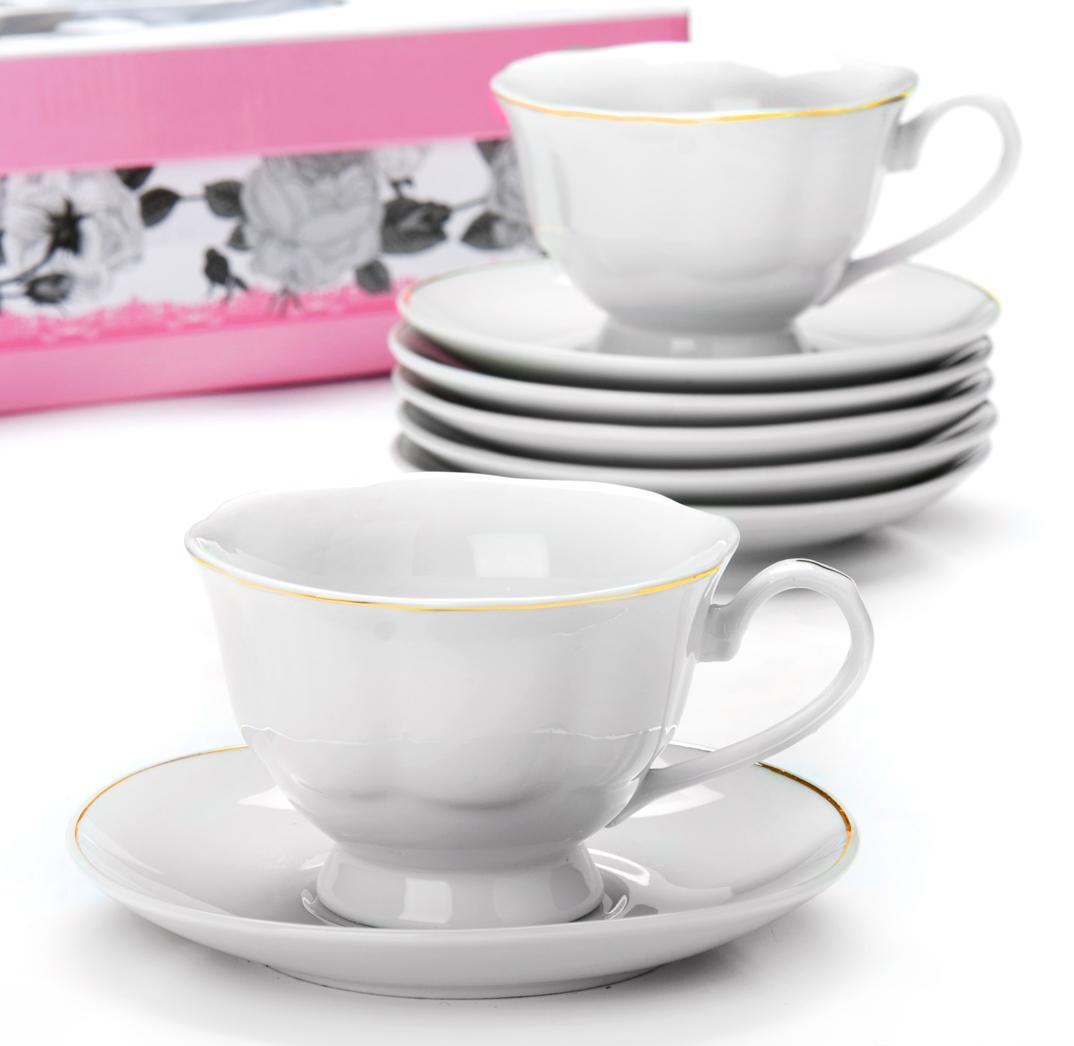 Фото - Чайный сервиз Loraine, 180 мл, 12 предметов. 25930 [супермаркет] jingdong геб scybe фил приблизительно круглая чашка установлена в вертикальном положении стеклянной чашки 290мла 6 z