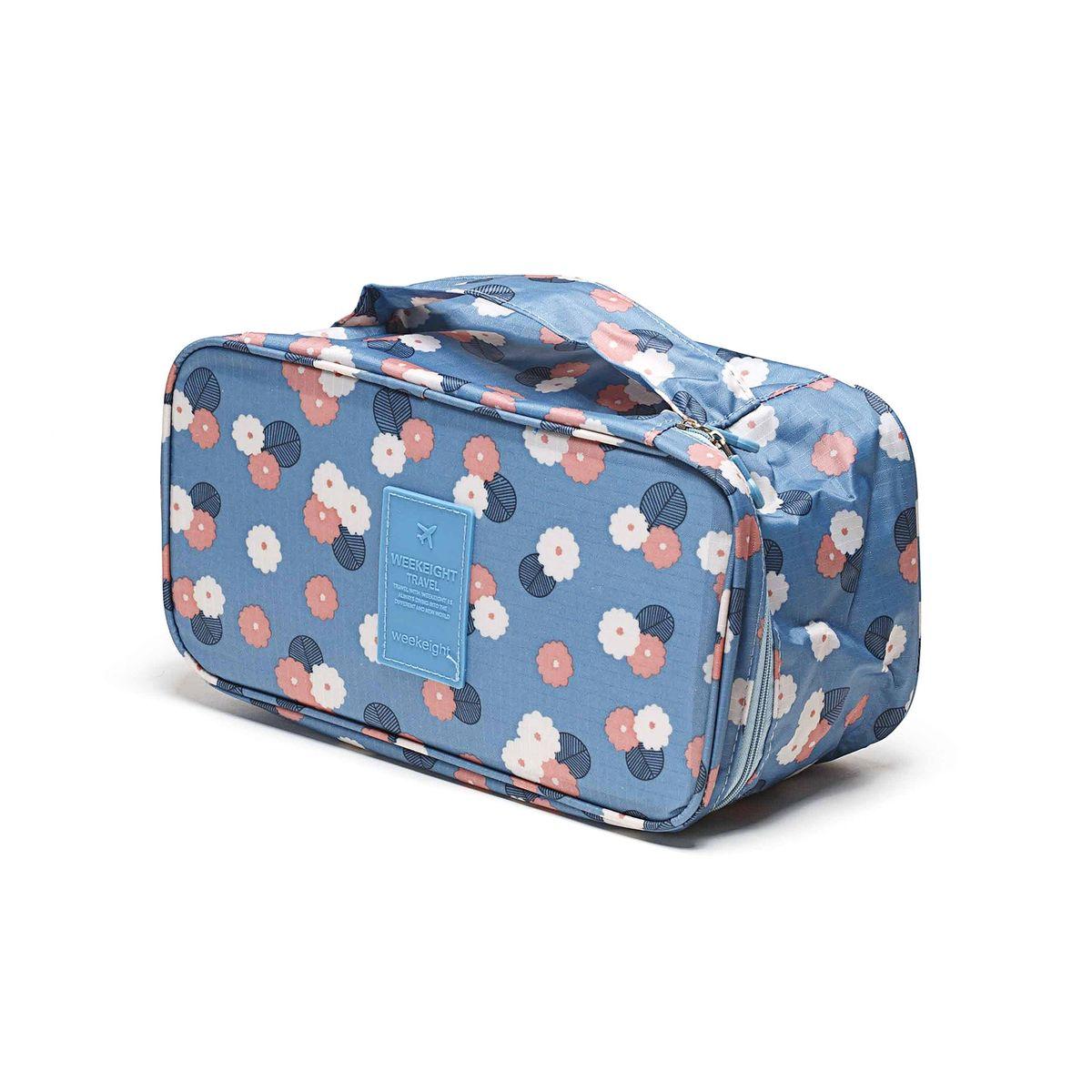 Косметичка-органайзер Homsu Цветок, цвет: синий, белый, розовый, 28 x 13 x 15 см цена