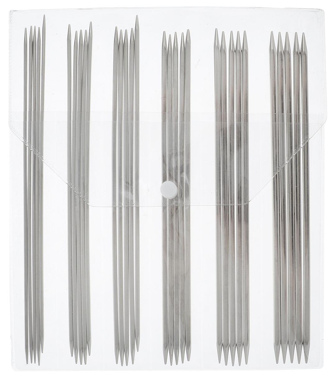 Фото - Набор чулочных спиц KnitPro Nova cubics, 2,5-5,0 мм, 6 видов набор коротких спиц lace short tips