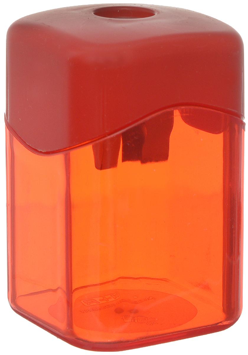 M+R Точилка Quattro Swing с контейнером цвет красный m r m r точилка металлическая