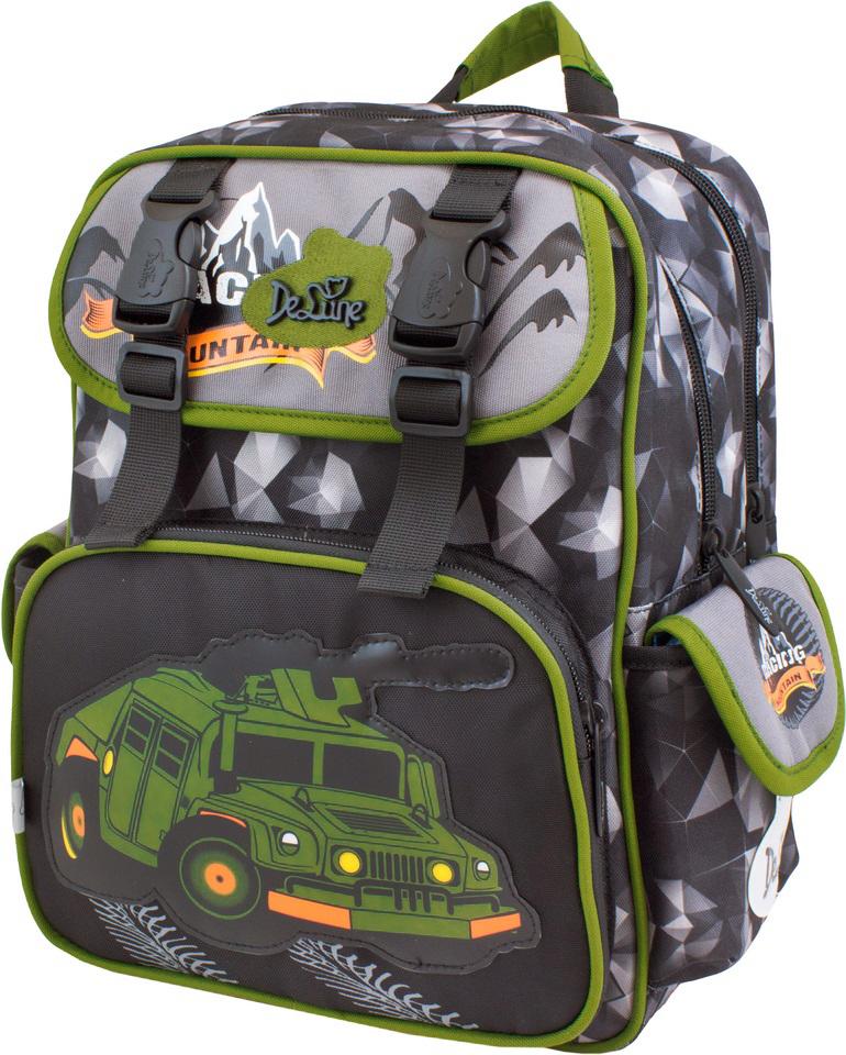 a9b13daf4a90 DeLune Рюкзак детский Mountain с наполнением цвет черный болотный 2  предмета — купить в интернет-магазине OZON.ru с быстрой доставкой