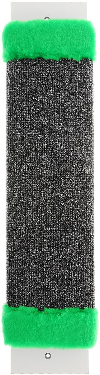 """Когтеточка """"ЗооМарк"""", настенная, цвет: темно-серый, зеленый, 57 х 12 х 3,5 см"""