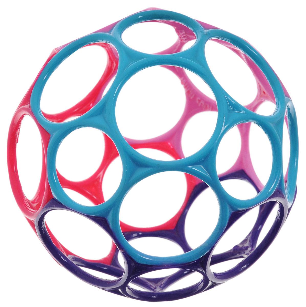 Развивающая игрушка Oball 81024_фиолетовый, голубой, малиновый, розовый