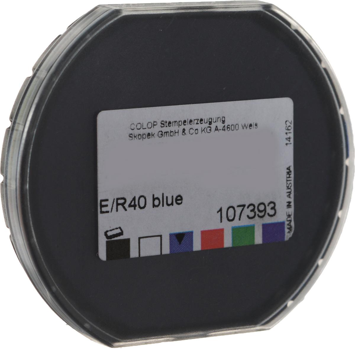 цена на Colop Сменная штемпельная подушка E/R40 цвет синий