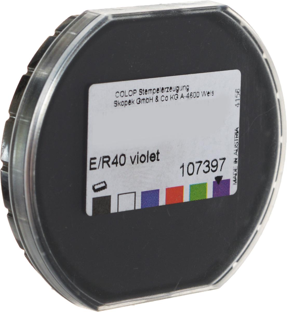 цена на Colop Сменная штемпельная подушка E/R40 №7 цвет фиолетовый