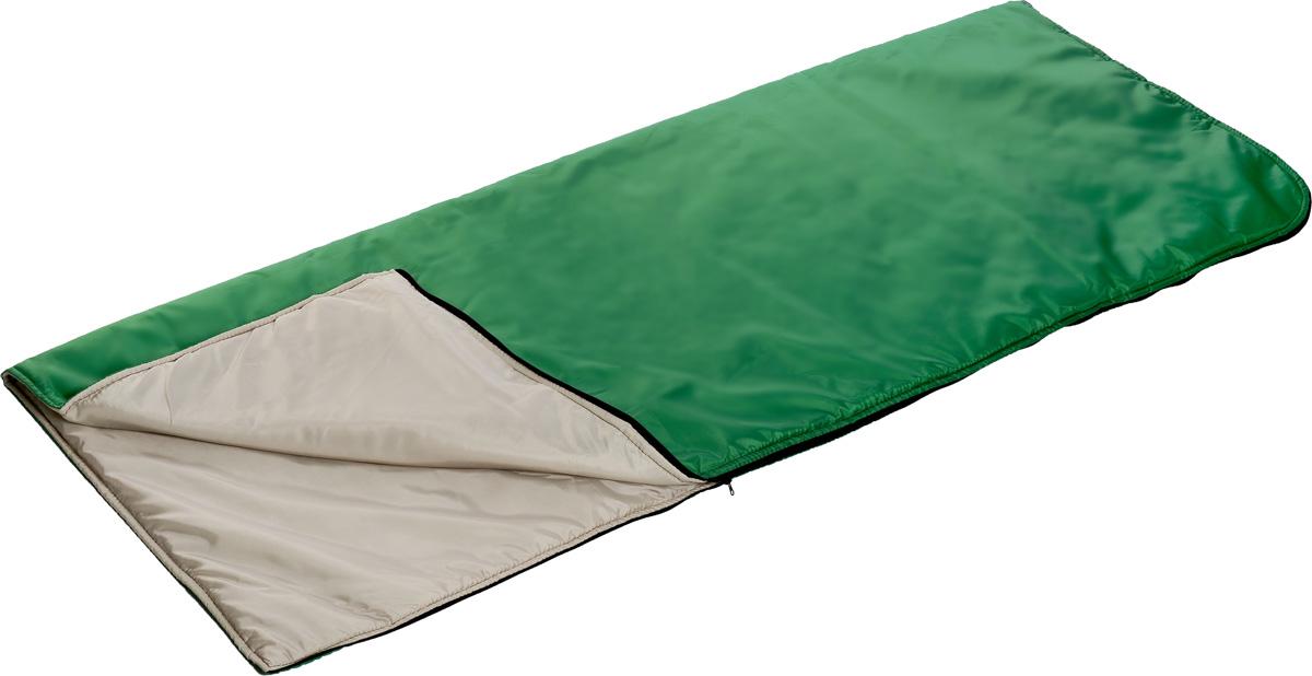 Мешок спальный Onlitop, правосторонняя молния, цвет: зеленый, 185 х 70 см cпальный мешок onlitop одеяло 1391036