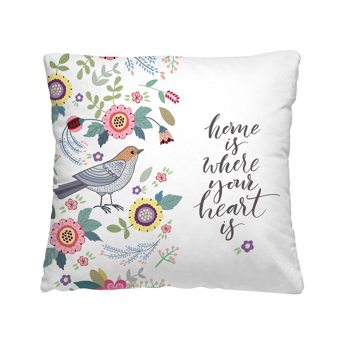 Подушка декоративная Волшебная ночь Влюбленный скворец, 40 х 40 см подушка декоративная волшебная ночь колибри 40х40 см