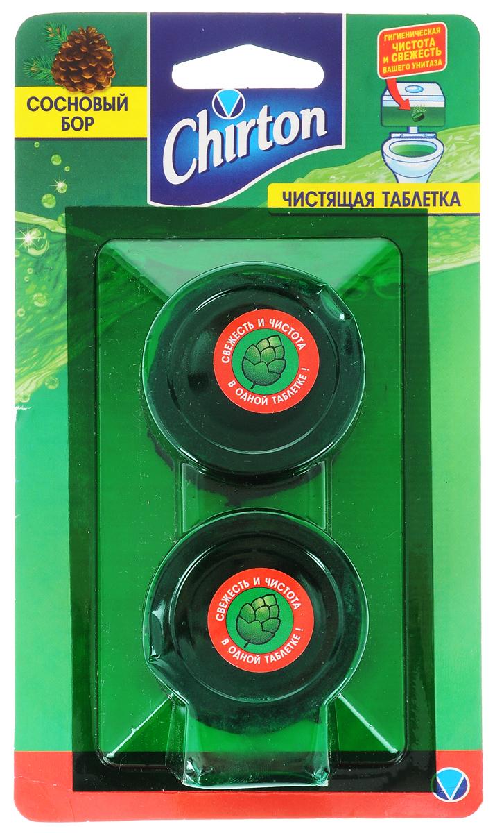 Таблетки чистящие для унитаза Chirton Сосновый бор, 50 г, 2 шт для унитаза чистящие средства