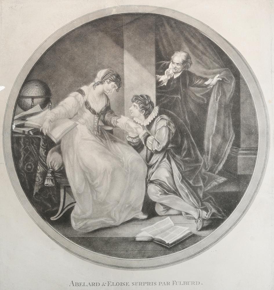 Абеляр и Элоиза (гравюра, меццо-тинто), Западная Европа, 1750-1760-е гг.