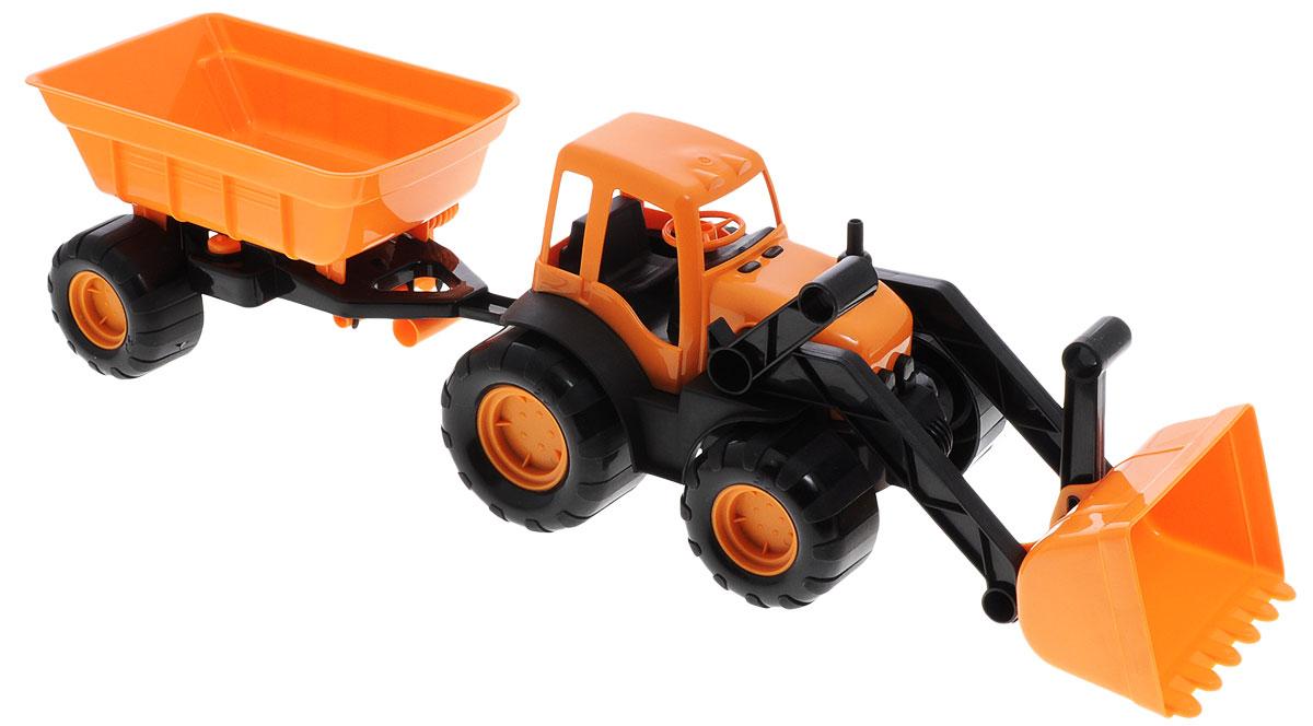 Zebratoys Трактор с ковшом и прицепом в ассортименте