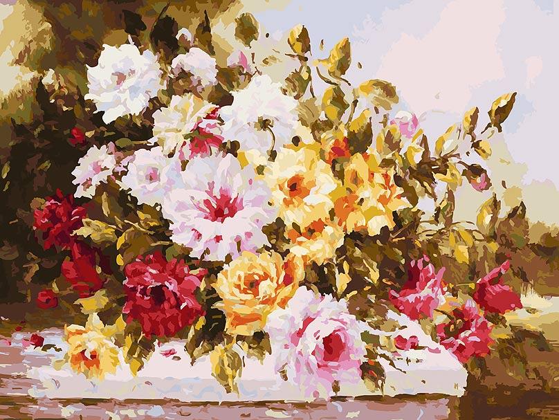 Живопись на холсте Белоснежка Чудесный букет, 30 х 40 см живопись на холсте букет маков 40 см х 50 см