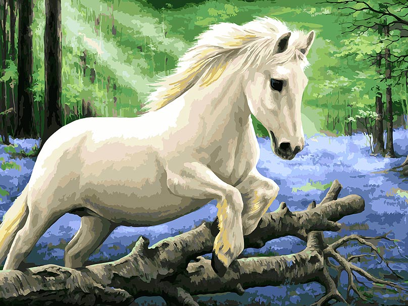 Живопись на холсте Белоснежка В лесу диких гиацинтов, 30 х 40 см набор для творчества белоснежка живопись на холсте 30 40см щенки на поляне