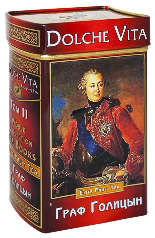 Dolche Vita Граф Голицын Том 2 ароматизированный листовой чай, 100 г (подарочная книга) dolche vita от всего сердца подарочный набор 3 вида чая 120 г