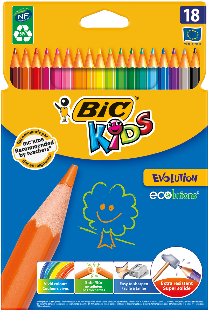 Bic Набор цветных карандашей Evolution 18 цветов
