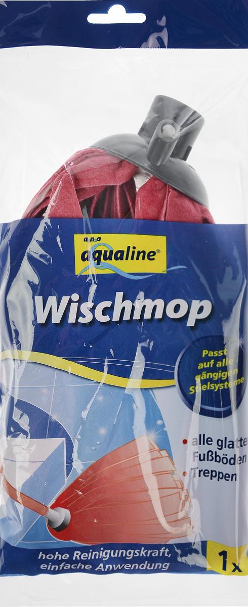 Насадка для швабры Aqualine, сменная, цвет: красный швабра aqualine лепестковая с ручкой 130 см