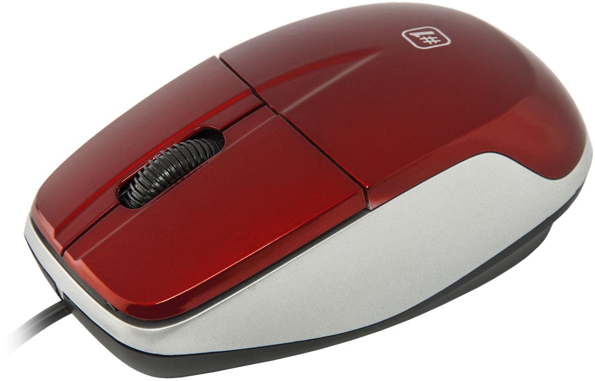 Мышь Defender №1 MS-940, Red оптическая