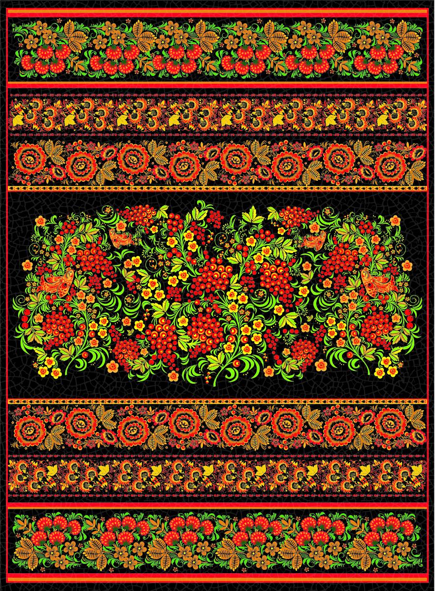 Рисовая бумага для декупажа Craft Premier Хохлома-черная, 28,2 х 38,4 см рисовая бумага для декупажа craft premier шебби розы a3