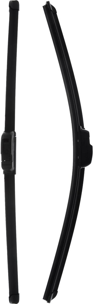 Щетка стеклоочистителя Bosch AR550S, бескаркасная, со спойлером, длина 55/53 см, 2 шт щетки угольные rd 2 шт для bosch 1607014172 5х10х17мм autostop 404 302
