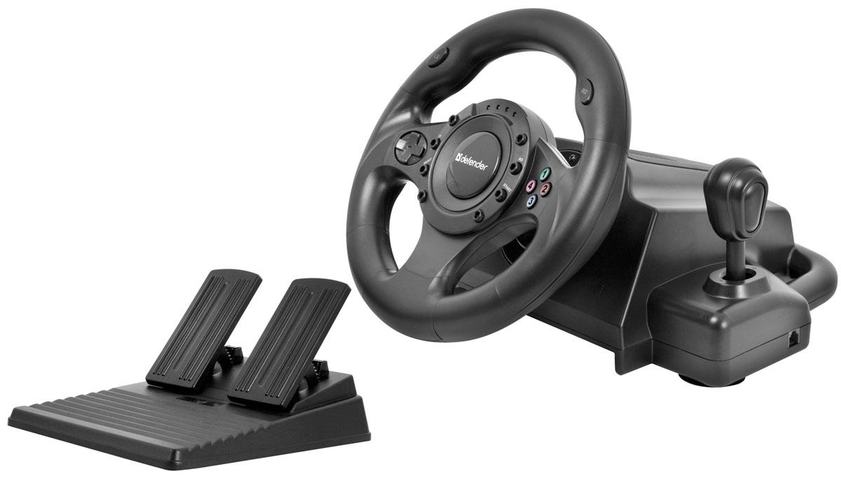 Defender Forsage Drift GT USB/PS3 игровой руль defender forsage drift usb ps2 ps3 12 кн рычаг коробки передач 64370