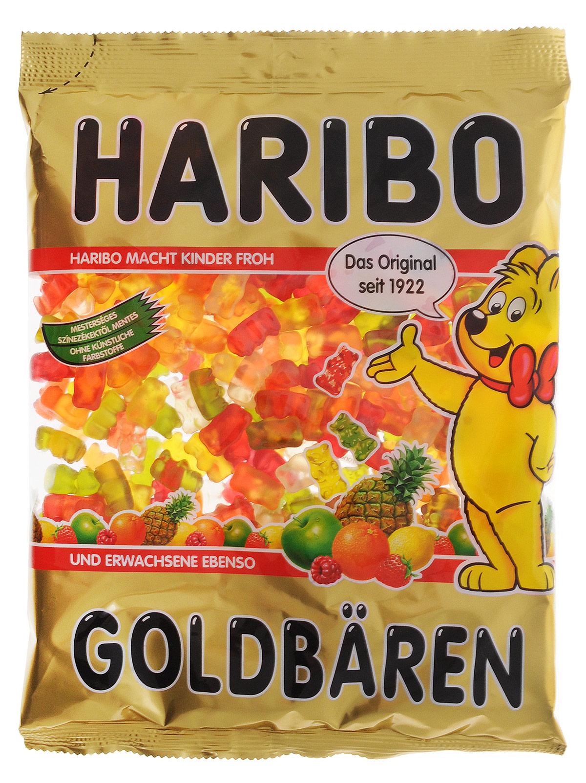 Haribo Золотые мишки жевательный мармелад, 1 кг жевательный мармелад haribo червячки 70г