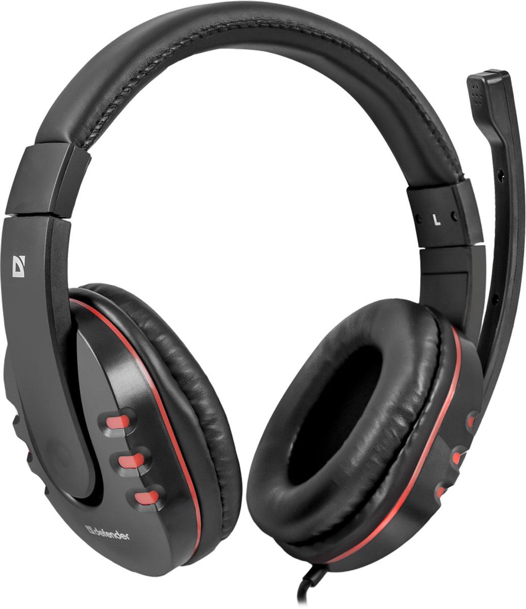 Игровая гарнитура Defender Warhead G-160 черный, кабель 2,5 м