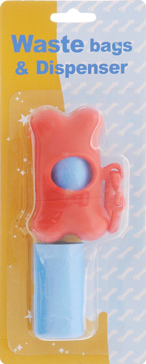 Гигиенические пакеты Каскад, с футляром, сменные, цвет: красный щетка для животных каскад на руку цвет красный 12 5 х 7 5 см