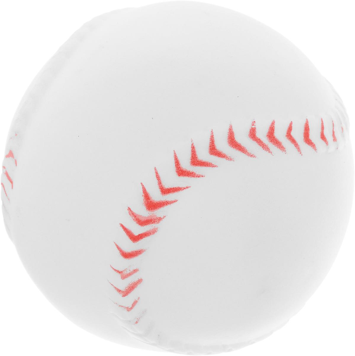 Игрушка для собак Каскад Мячик, цвет: белый, диаметр 7 см