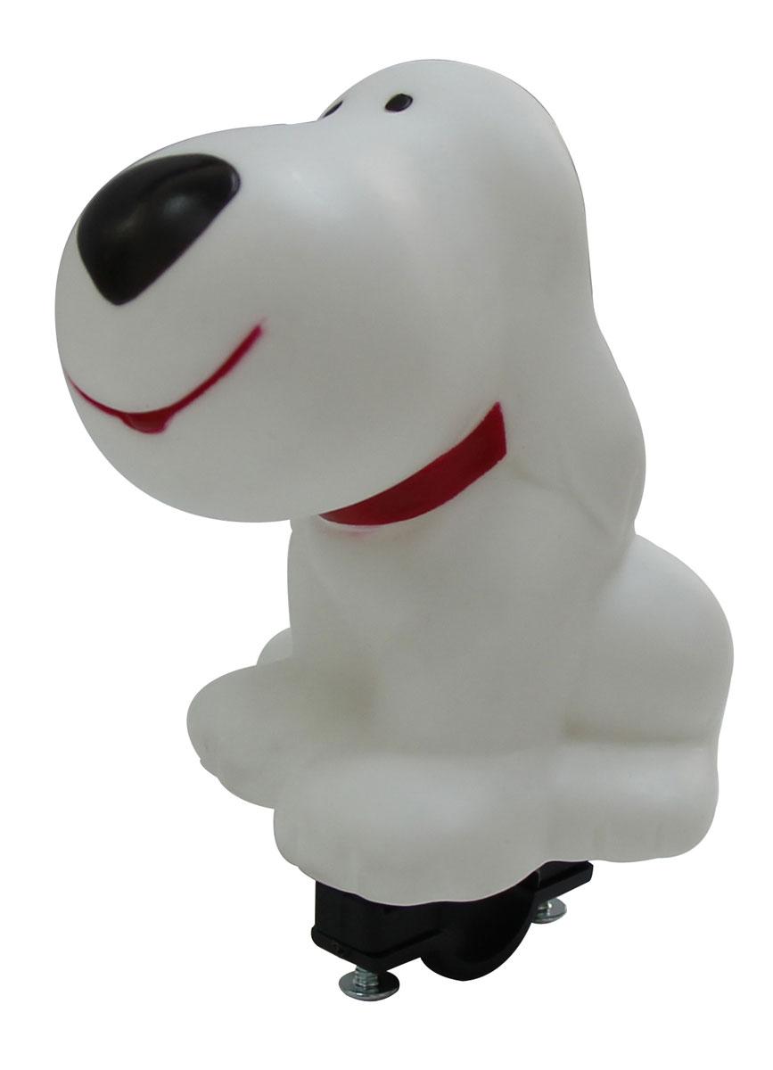 Звонок-пищалка Bike Attitude Собачка, на руль 22,2 мм, цвет: белый