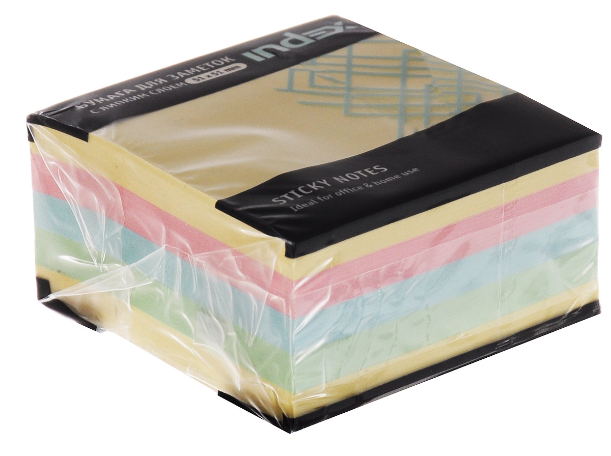 Бумага для заметок Мини-куб, с липким слоем, 250 листов berlingo бумага для заметок c клеевым краем 7 6 х 7 6 см цвет зеленый 100 листов