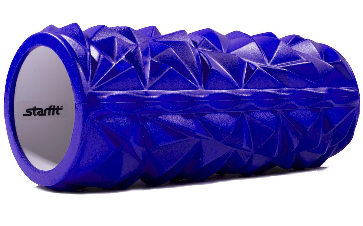 Ролик массажный Starfit FA-504, цвет: синий, 33 х 14 х 14 см ролик для йоги и пилатеса starfit fa 506 цвет зеленый 15 х 15 х 90 см