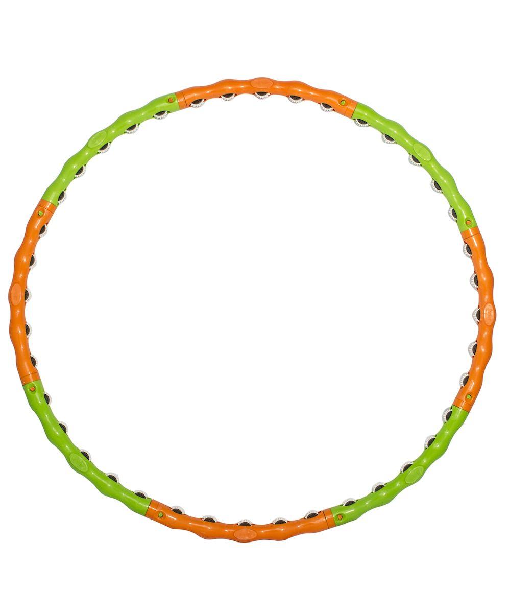 Фото - Обруч массажный Starfit, разборный, цвет: зеленый, оранжевый, диаметр 98 см обруч гимнастический starfit обруч массажный hh 106 разборный 98 см