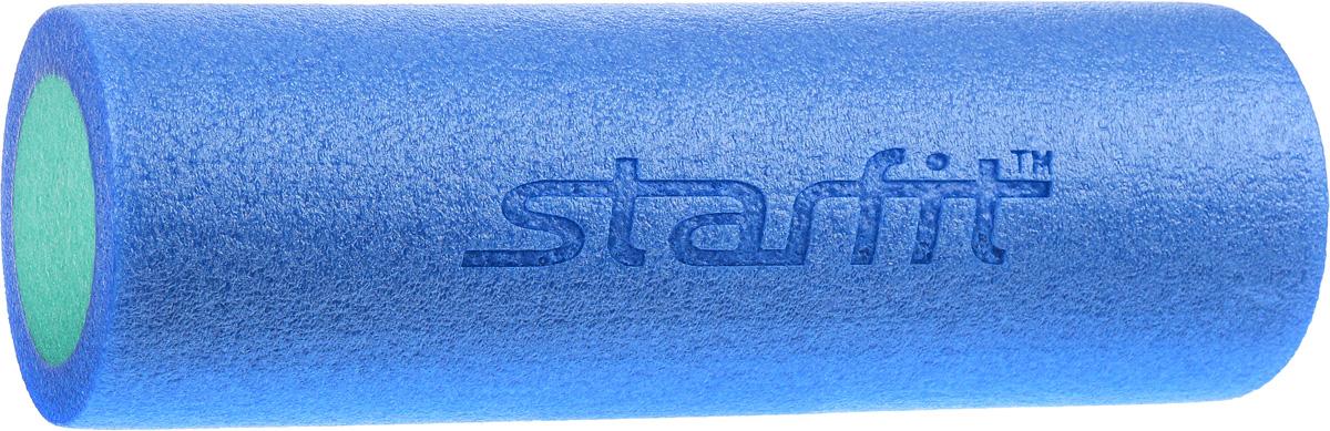 Ролик для йоги и пилатеса Starfit FA-501, синий, голубой, 15 х 15 х 45 см ролик для йоги и пилатеса starfit fa 506 цвет зеленый 15 х 15 х 90 см