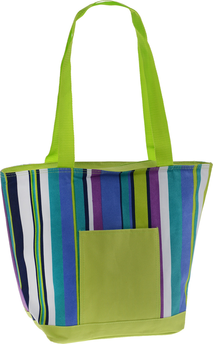 Термосумка Green Glade, цвет: салатовый, белый, синий, 20 л. P1120 сумка холодильник термосумка 20л airline ao cb 03