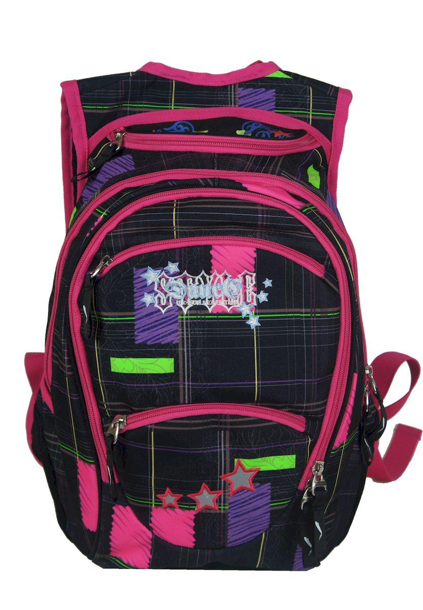 Рюкзак женский UFO people, цвет: черно-розовый. 15 л. 13357 цена и фото