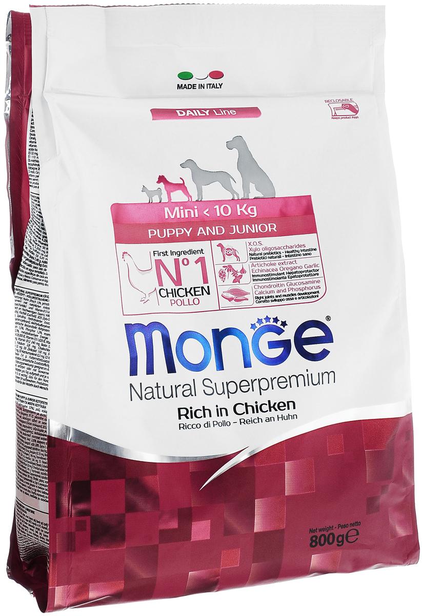 """Корм сухой """"Monge"""" для щенков мелких пород, с курицей, 800 г"""